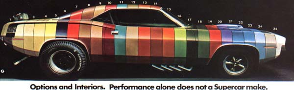 1969 Plymouth Paint codes http://www.angelfire.com/mi3/Franks1969GTS340/1970_Plymouth_Paint_Codes.htm